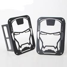 Jeep Jk Tail Light Covers Pair Of Led Rear Tail Light Lamp Cover Trim Iron Man For Jeep Jk