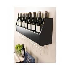 floating wall mounted wine glass rack shelf storage bottle holder