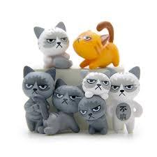 micro cottage style random 2pcs set cute cats fairy garden miniature craft micro