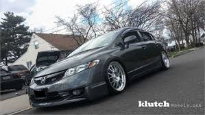 2009 honda civic wheels klutch wheels sl14 silver w machined lip on honda civic si wheels