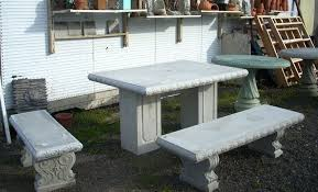 Bench And Table Set Garden Tables And Benches Concrete Decorative Bench Portland