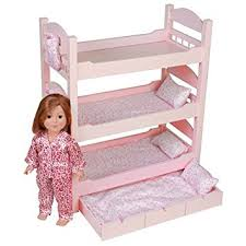 Dolls Bunk Beds Uk 18 Inch Doll Bunk Bed Stackable Wooden Furniture Made To