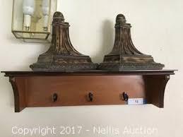 Wall Shelf Sconces 471 In Home Estate Auction Sorrel St Nellis Auction
