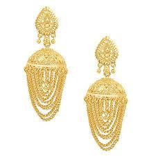 gold earrings jhumka design buy shining traditional gold 24k brass jhumka earrings for