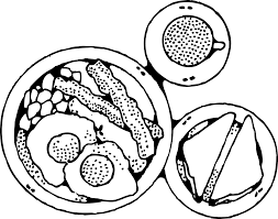 meal clipart black and white pencil and in color meal clipart