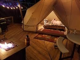 sibley tent on elev tree deck romantic vrbo