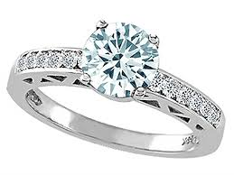 nice engagement rings images Tommaso design genuine aquamarine solitaire engagement ring 14kt jpg
