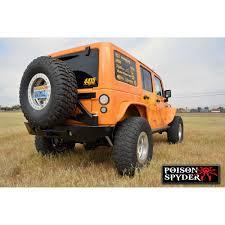 jeep wrangler jk tires poison spyder 17 62 020p1 wrangler jk rear bumper and tire carrier