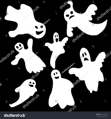 set halloween emotional ghosts isolated on stock vector 312173180