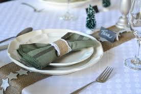 how to set a table with napkin rings set your holiday table with ribbon suburble