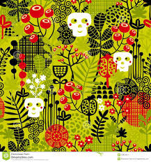 funny halloween background funny skull seamless pattern with flowers royalty free stock