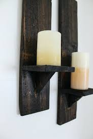 Wall Candle Holders Sconces Sconce Rustic Metal Candle Sconces Noble Rustic Black Two Light