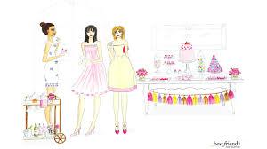 chic soiree illustration desktop download best friends for frosting