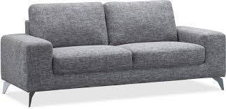 canapé droit 3 places canapé droit 3 places avec pied en acier brossé gris
