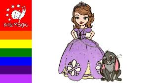 drawing sofia the first and clover for kids coloring pages
