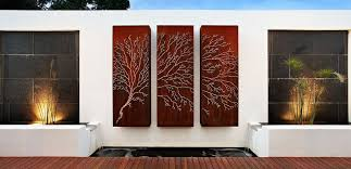 modern outdoor wall decor diy calm and charming outdoor wall