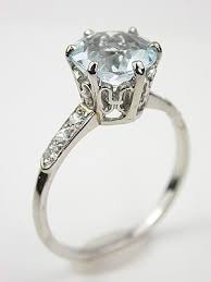 antique aquamarine engagement rings antique aquamarine engagement ring rg 1408 aquamarines dew