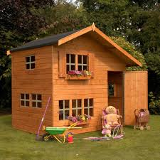 x double storey bramble cottage wooden playhouse wendy house