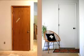 transforming dated doors with paint and hardware step by step and