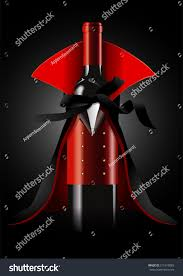 halloween black background image vector illustrator wine bottle dracula costume stock vector