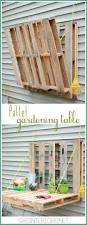 562 best home decor recycled repurposed images on pinterest diy vertical pallet gardening table no more gardening on the ground with a hurt back