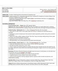 Preschool Teacher Resume Objective Preschool Teacher Resume Template Ms Word Format Resume Preschool