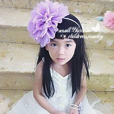 big flower headbands pearl tulle flower hair bridal party girl flowers