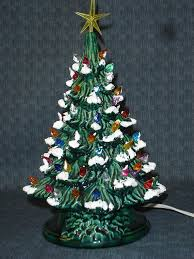 ceramic christmas tree green glazed ceramic christmas tree 13 inch version