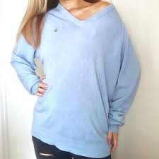 christian dior christian dior blue sweater from mckayla u0027s