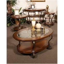 Ashley End Tables And Coffee Table T517 6 Ashley Furniture Nestor Medium Brown Round End Table