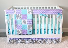 Lavender And Grey Crib Bedding Lavender And Aqua Nursery Lavender Crib Bedding Elephant Nursery