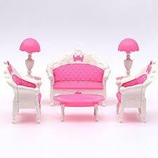 Buy Generic Pink Dollhouse Furniture Living Room Parlour Sofa Set - Pink living room set