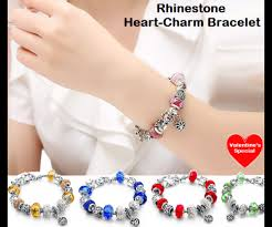 crystal heart charm bracelet images Pandora crystal heart charm bracelet png