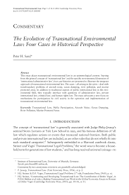 the evolution of transnational environmental law four cases in