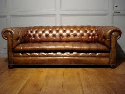 Leather Chesterfield Sofa Uk by Sold Antique 3 Seater Brown Leather Chesterfield Antique