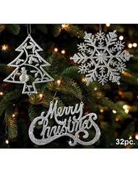 special ornaments silver trees silver