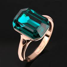 green fashion rings images 2018 new imitation emerald rings wholesale 18k rose gold plated jpg