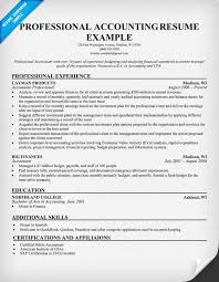 Sample Resume For Mechanical Engineer by Accounting Resume Examples