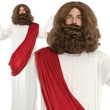 beard halloween costumes jesus wig beard religious mens fancy dress christmas costume