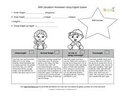 bmi kids calculation worksheet for nurses and dietitians using the