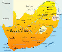 a picture of south africa map south africa map showing attractions accommodation