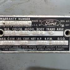 1965 c600 help finding parts vin decoder ford truck