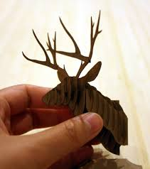 assembly instructions for cardstock deer trophy head amazing