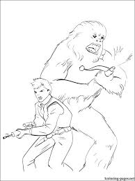 star wars han solo coloring coloring pages