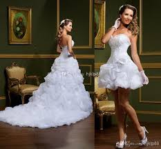 Vintage Ball Gown Strapless Tulle Wedding Dress With Detachable 2014 New Vestido De Noiva White Ball Gown Wedding Dresses