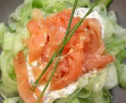 cuisiner le saumon fumé tagliatelles de concombre au saumon fumé recette de tagliatelles