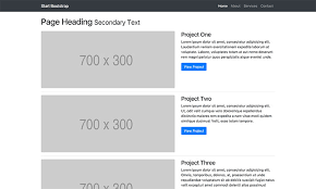 product layout bootstrap one column portfolio free bootstrap template start bootstrap