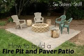 Cost To Install Paver Patio by How To Build A Fire Pit And Paver Patio Six Sisters U0027 Stuff