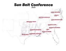 Jmu Map 2014 Map Of The Sun Belt A Sea Of Red