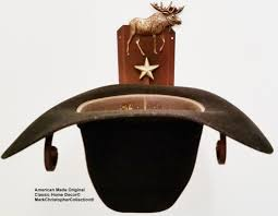 cowboy hat rack moose ct american made